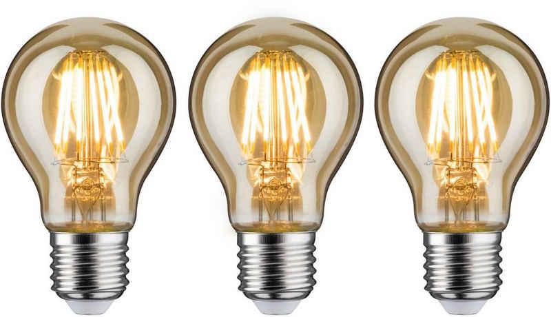 Paulmann »3er Pack 6,5 W goldlicht« LED-Leuchtmittel, E27, 3 Stück, Warmweiß