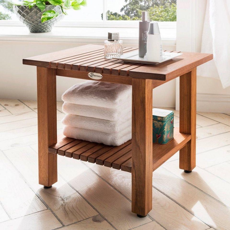 Destiny Badhocker »SPA Hocker/Tisch geriffelt mit Ablagefläche« 20 St  online kaufen   OTTO
