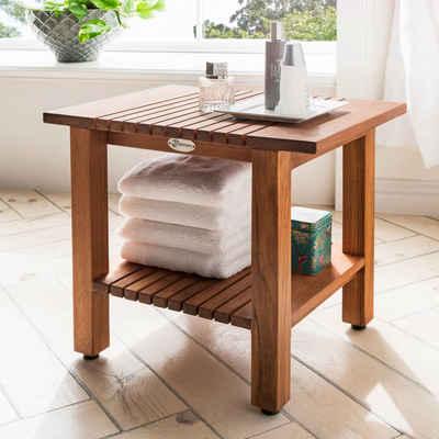 Destiny Badhocker »SPA Hocker/Tisch geriffelt mit Ablagefläche« (1 St)