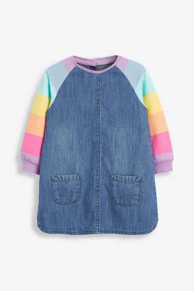 Next Jeanskleid »Denimkleid mit Raglanärmeln und Regenbogen« (1-tlg)