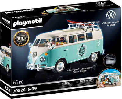 Playmobil® Konstruktions-Spielset »Volkswagen T1 Camping Bus - Special Edition (70826)«, (65 St), Made in Germany