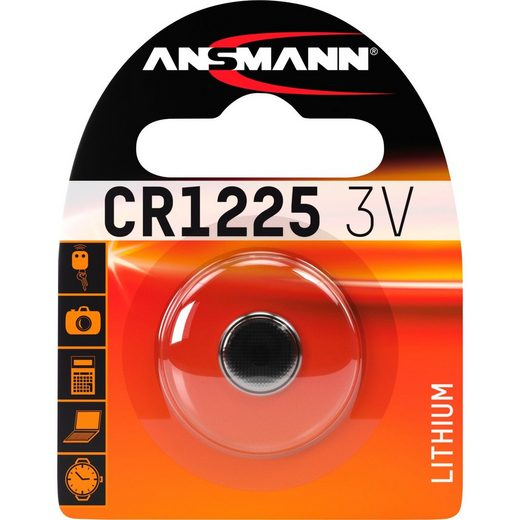 ANSMANN® »Lithium Knopfzelle CR1225, 1 Stück« Batterie