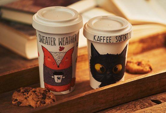 Paper+Design Papierserviette »Cafe to go«, (5 St), 33 cm x 33 cm