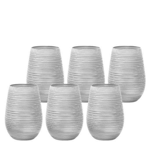 Stölzle Gläser-Set »TWISTER Becher 465 ml weiß-silber 6er Set« (6-tlg)