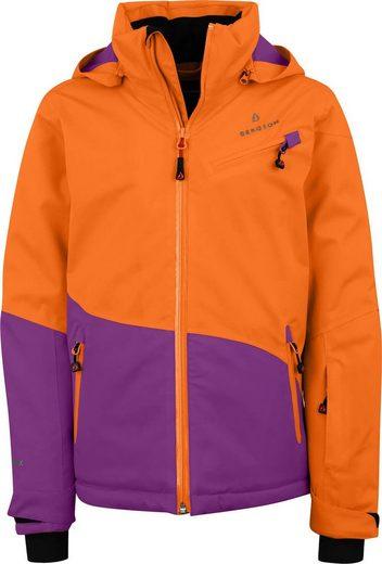Bergson Winterjacke »LUNA« Kinder Skijacke, wattiert, 12000 mm Wassersäule, Normalgrößen, orange