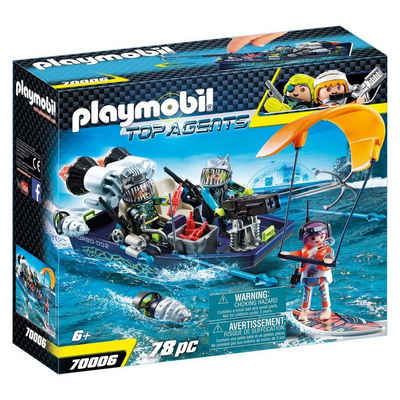 Playmobil® Spielzeug-Boot »PLAYMOBIL® 70006 - Top Agents - Team S.H.A.R.K. Harpoon Craft«