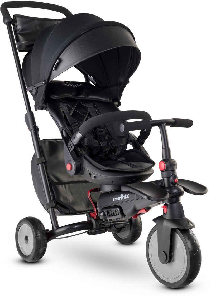 smarTrike® Dreirad »smarTfold STR7, Schwarz«, mit verstellbarem Sonnenschutzdach