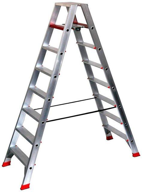 SZ Metall Alu-Profi-Doppelleiter, 8 Stufen