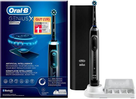 Oral B Elektrische Zahnbürste Genius X 20000N, Aufsteckbürsten: 1 St.