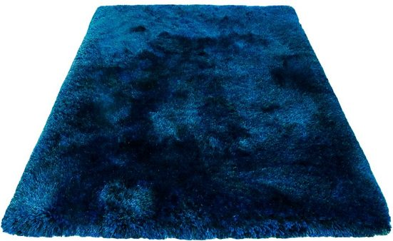 Hochflor-Teppich »Lasse«, Leonique, rechteckig, Höhe 76 mm, Besonders weich durch Microfaser, Wohnzimmer