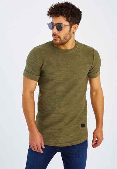 Leif Nelson T-Shirt »Herren T-Shirt Rundhals LN-6324«