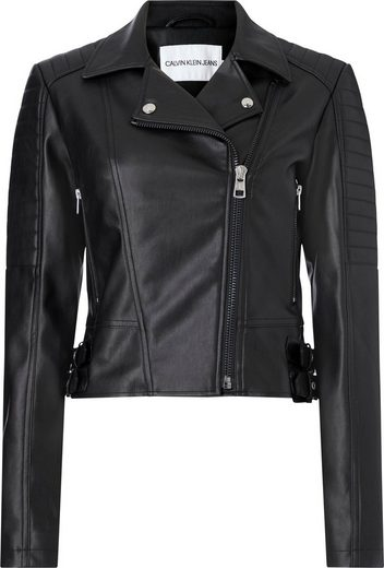 Calvin Klein Jeans Bikerjacke »FAUX LEATHER BIKER JACKET« in modischer Bikerform