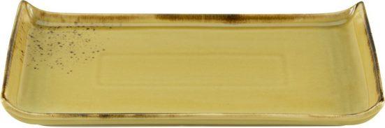 CreaTable Servierplatte »Nature Collection«, Steinzeug, (Set, 2-tlg), 33x16,5 cm