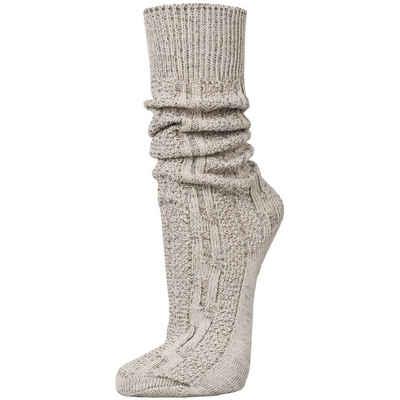 PAULGOS Trachtensocken »PAULGOS Unisex Trachtensocken Trachtenstrümpfe Socken Kniestrümpfe mit Zopfmuster in 3 Farben Gr. 39-47«