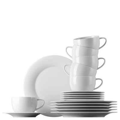 Rosenthal Kaffeeservice »Yono Novo Weiß Kaffeeset 18-tlg.« (18-tlg), Porzellan