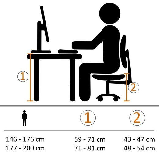Amstyle Chefsessel »SPM1.425« Bürostuhl Bezug Stoff Schwarz Schreibtischstuhl bis 120 kg XXL Design Chefsessel Höhenverstellbar Drehstuhl mit Armlehnen & hoher Rückenlehne