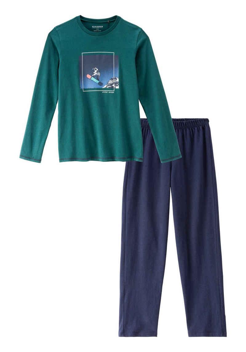 Schiesser Pyjama mit coolen Druck
