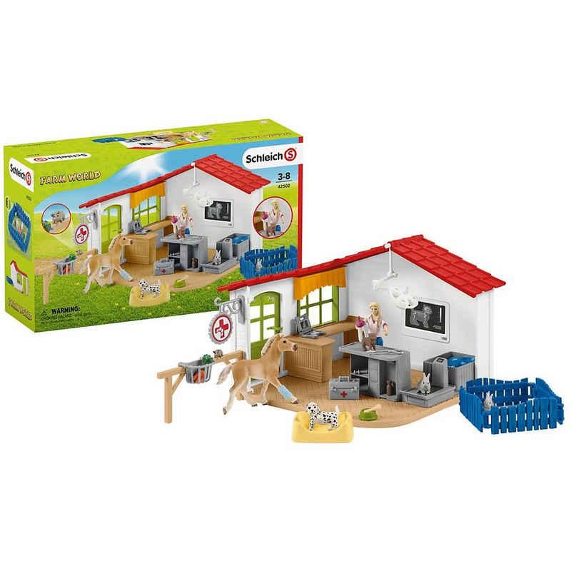 Schleich® Spielfigur »Schleich Farm World 42502 Tierarzt-Praxis mit«