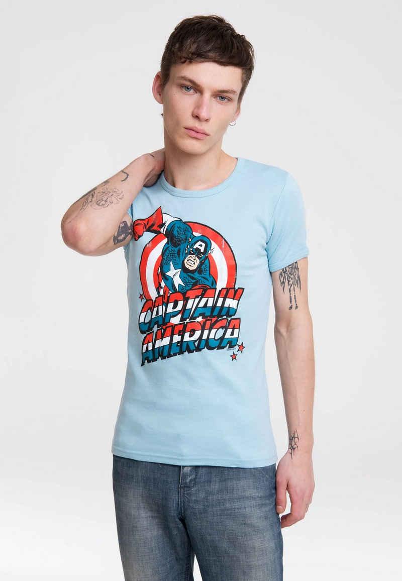 LOGOSHIRT T-Shirt »Captain America« mit detailliertem Print