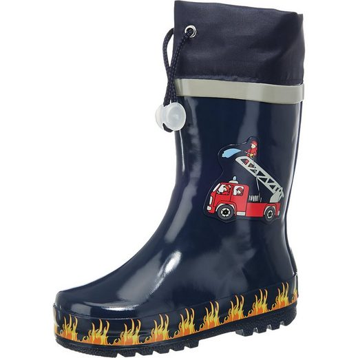 Playshoes »Kinder Gummistiefel Feuerwehr« Gummistiefel