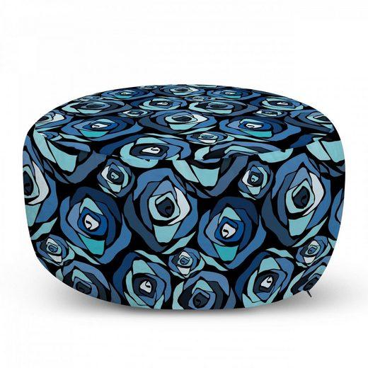 Abakuhaus Pouf »dekorative weiche Fußstütze und Reißverschlusshülle osmanisches Wohn-und Schlafzimmer«, Blume Moderne Rosenblätter Bloom