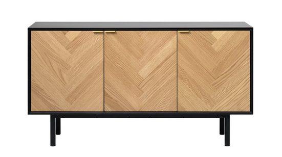 ebuy24 Sideboard »Calvi Sideboard mit 3 Türen Eiche