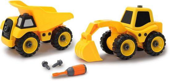 Jamara Spielzeug-Traktor »Baufahrzeuge 9 in 1«, (Set, 46-tlg)