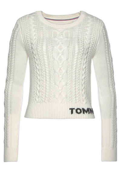 Tommy Jeans Strickpullover »TJW CABLE SWEATER« mit geschmackvollem Zopfmuster