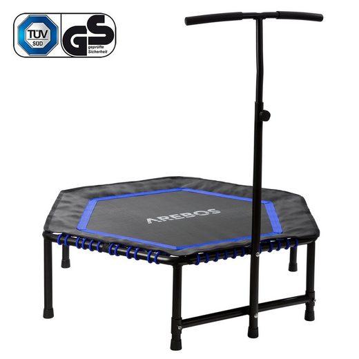 Arebos Fitnesstrampolin »Mini Trampolin mit Griff Training Indoor Outdoor Jumper«