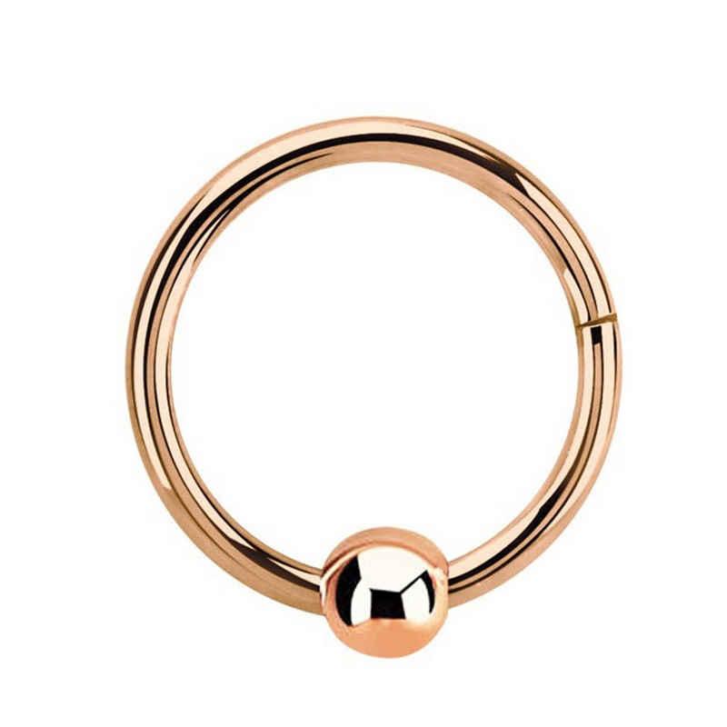 Adelia´s Nasenpiercing »Piercing Ring BCR, Clicker Rosegold mit 3 mm Kugel«, Aus 316l Stahl? PVD Rosegold beschichtet