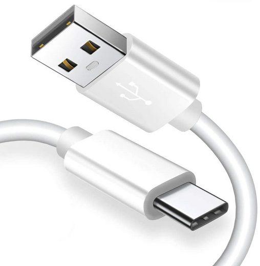 GlobaLink Smartphone-Kabel, USB Typ A, Typ C (Eurostecker), USB-C (200 cm), GlobaLink USB Typ C Kabel USB C auf USB 2.0Zertifiziert- 2 Stück 2M - Schnelles Aufladen und Synchronisation für Samsung Galaxy S9 S8 Plus Huawei P20 P10 P9 Lite - Weiß
