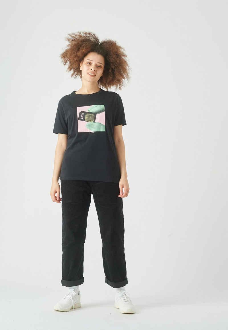 Cleptomanicx T-Shirt »Life« mit trendigem Frontprint