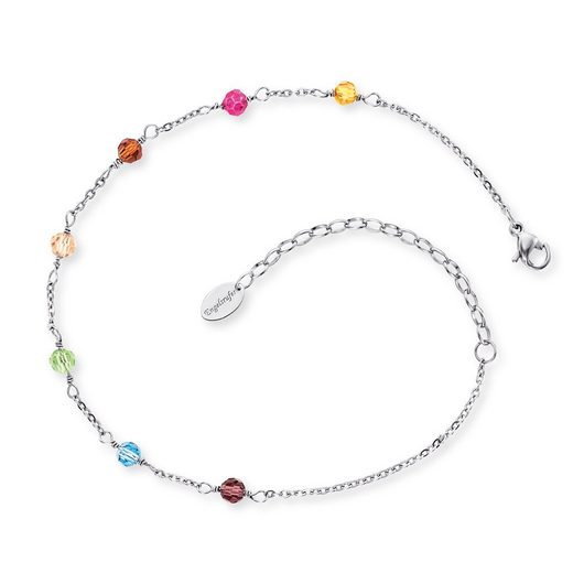 Engelsrufer Armband »Fußkettchen mit Glasperlen multicolor L27«