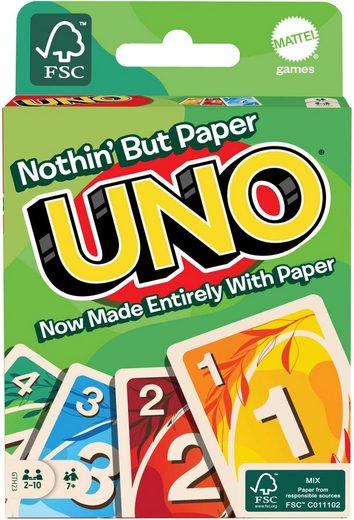 Mattel games Spiel, »UNO 100% Papier«