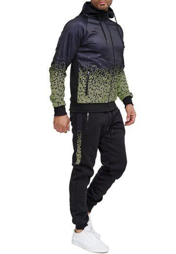 Egomaxx Trainingsanzug »3585«, Herren Slim Fit Trainingsanzug Casual Basic Streetwear Sportanzug