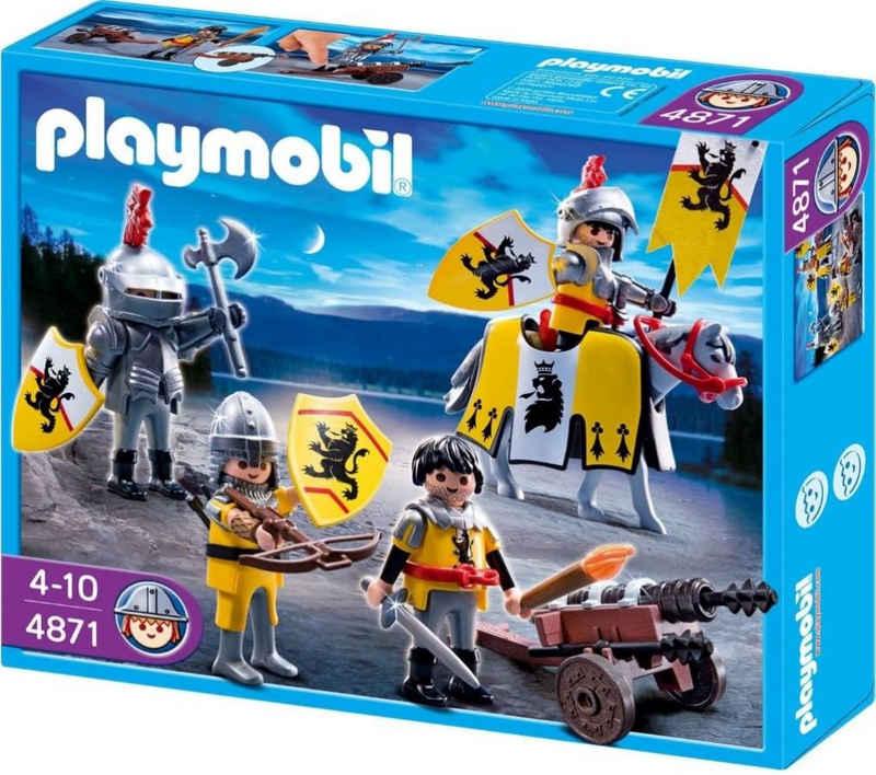 Playmobil® Konstruktions-Spielset »Löwenrittertrupp 4871 Mittelalter Kampftrupp Ritter mit großer Kanone Spielzeug-Set«, (Set, 29 St)
