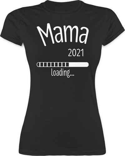 Shirtracer T-Shirt »Mama 2021 loading - Schwangerschaft - Damen Premium T-Shirt«