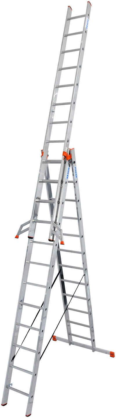 KRAUSE Doppelleiter »Tribilo«, mit Leiternspitzen, 3x12 Sprossen