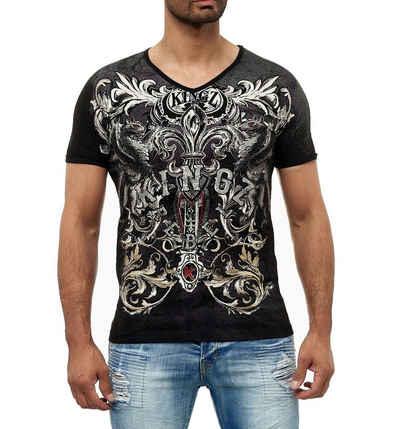 KINGZ T-Shirt mit einem ausgefallenen Design und Akzenten