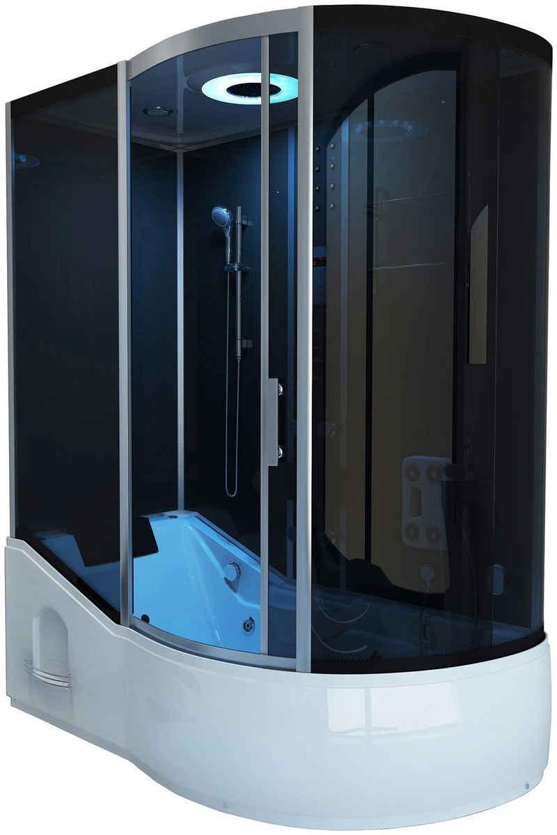 HOME DELUXE Dampfdusche »ALL IN - 4 in 1«, BxT: 170x90 cm, Sicherheitsglas, 1-tlg., Dampfdusche/Wanne/Whirlpool/Sauna