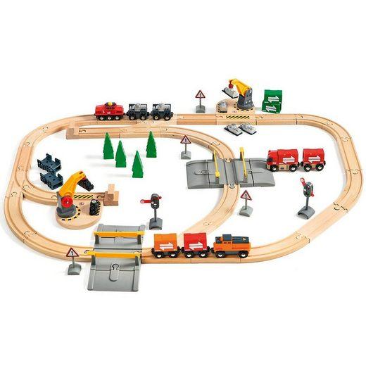 BRIO® Spielzeugeisenbahn-Set »BRIO 33165 Großes Güterbahnhofset«