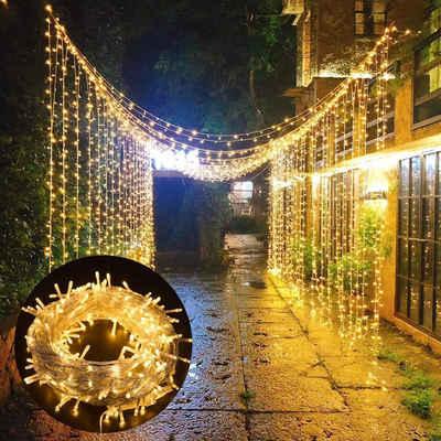 Rosnek LED-Lichterkette »100-2000 LED 10-100M Lichterkette Beleuchtung, Außen Weihnachten Party«, Wasserdicht
