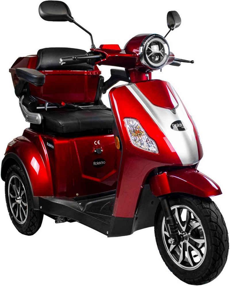Rolektro Elektromobil »Rolektro E-Trike 25 V.3, Lithium Akku«, 1000 W, 25 km/h, (mit Topcase)