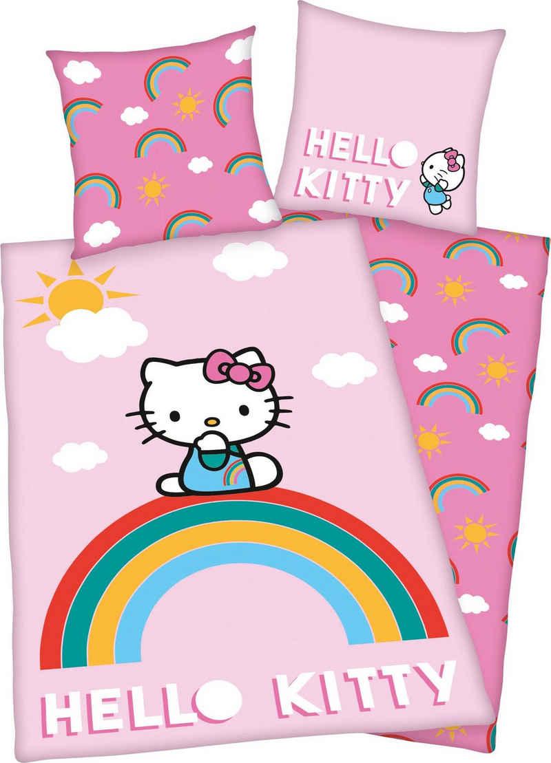 Kinderbettwäsche »Hello Kitty«, Hello Kitty, mit tollem Hello Kitty Motiv