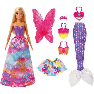 Mattel® Anziehpuppe »Barbie® Dreamtopia 3-in1-Fantasie Spielset mit«