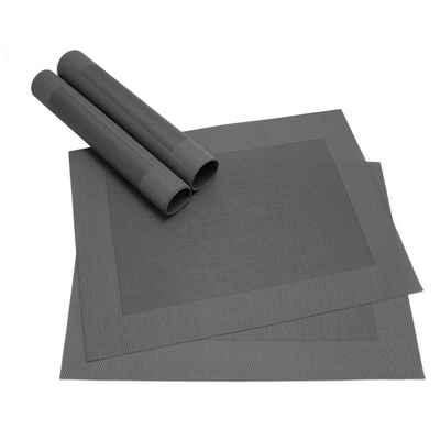 Platzset, »Tischsets BORDA 4 Stk. schwarz Platzsets 46 cm«, matches21 HOME & HOBBY
