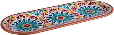 APS Teller »Arabesque«, Terrakottaoptik, spülmaschinengeeignet, Länge 38 cm