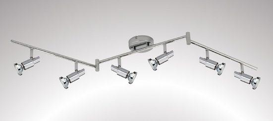 TRANGO LED Deckenspots, 6-flammig 2991-68SD LED Deckenleuchte *OSCAR* in Chrom-Optik inkl. 6x 5 W 3-Stufen dimmbaren GU10 LED Leuchtmittel I Deckenlampe I Deckenstrahler I Deckenspots I Wohnzimmer Lampe schwenkbar und drehbar