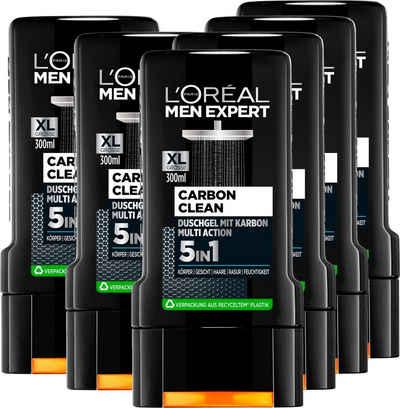 L'ORÉAL PARIS MEN EXPERT Duschgel »Carbon Clean Duschgel Multiaction«, 6-tlg.