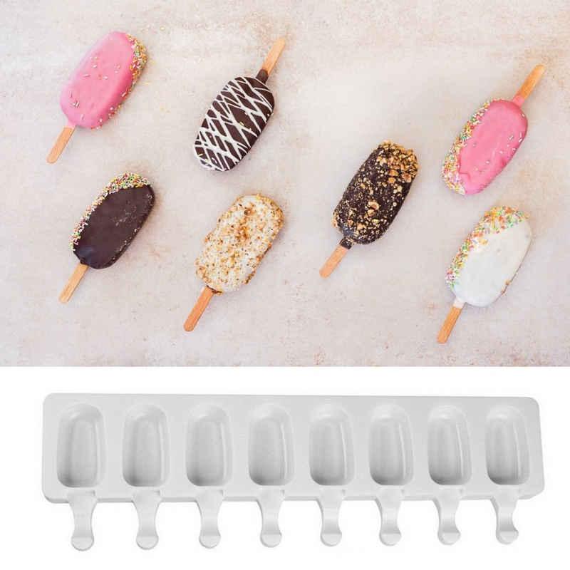 Sross Eisform »8-gliedrige Silikon-Eis am Stielform, Eisform, Dessertform, Eisformen, Silikonbackformen«, Silikonbackformen/Eisformen